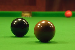 Billes de billard Photo stock