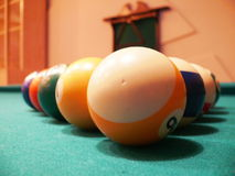 Billes de billards Photos libres de droits