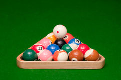 Billes de billards Photo libre de droits
