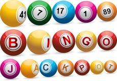 Billes de bingo-test sur le blanc illustration stock