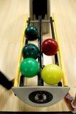 Billes de bowling à la ruelle photo stock