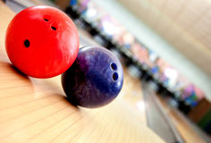Billes de bowling Photo libre de droits