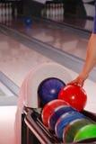 Billes de bowling Photos libres de droits