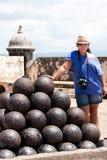 Billes de Canon de fort d'EL Morro Image libre de droits