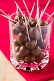 Billes de chocolat image stock