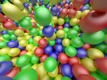 Billes de couleur fond lumineux de couleurs, rendu 3d Photo libre de droits