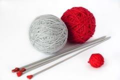 Billes de filé pour le tricotage Photographie stock libre de droits