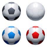 Billes de football. Image libre de droits
