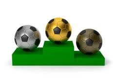 Billes de football Photos libres de droits