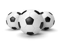 Billes de football Photos stock