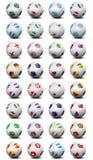 Billes de football de coupe du monde Photos stock