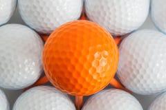 Billes de golf blanches Images libres de droits