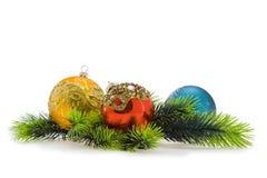 Billes de l'arbre de l'an. Noël, an neuf Photographie stock