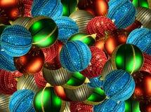 Billes de Noël. photographie stock