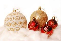 Billes de Noël. Image libre de droits