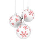 Billes de Noël avec des snowflaks Photos libres de droits