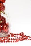 Billes de Noël dans le vase Image stock
