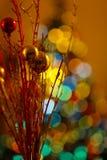 Billes de Noël de lumière Photo stock