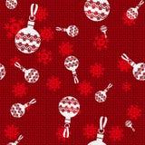 Billes de Noël de vecteur Image stock