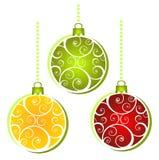 Billes de Noël réglées Images libres de droits