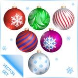 billes de Noël réglées Descripteur de vecteur illustration stock