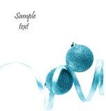 Billes de Noël sur le fond blanc Photos libres de droits