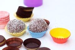 Billes de noix de coco photo stock