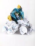 billes de papier chiffonnées Photographie stock libre de droits