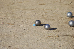 Billes de Petanque Photo libre de droits