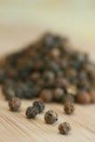 Billes de poivrons noirs photo stock