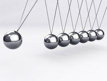 Billes de équilibrage, le berceau de Newton Photo libre de droits