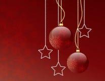Billes de rouge de Noël Images libres de droits