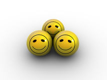 Billes de sourire Images libres de droits