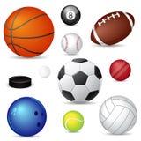 Billes de sport de vecteur Photographie stock libre de droits