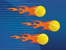 Billes de tennis chaudes. Photographie stock libre de droits