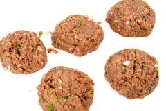 Billes de viande crue photographie stock