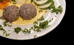 Billes de viande cuites à la vapeur Images libres de droits