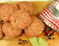 Billes de viande fraîche photo libre de droits