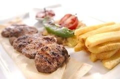 Billes de viande fraîche Photos libres de droits