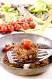 Billes de viande frais frites photo stock
