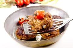 Billes de viande frais frites photographie stock libre de droits