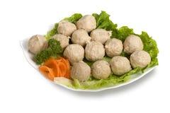 Billes de viande, paraboloïdes délicieux. Image stock