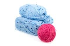 Billes des amorçages pour le tricotage Images libres de droits