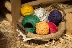 Billes des laines Image libre de droits
