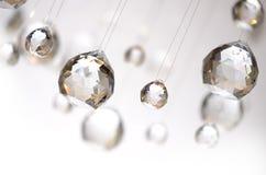 Billes en cristal s'arrêtantes Image libre de droits