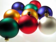 Billes en verre de Noël photographie stock libre de droits