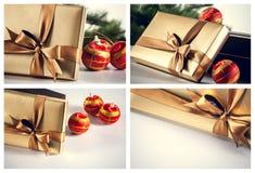 Billes et cadeaux de Noël Photographie stock