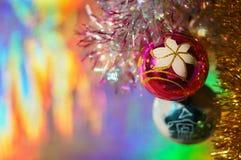 Billes et tresse de Noël Images stock
