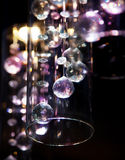 Billes légères en verre transparentes lumineuses Image libre de droits