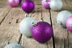 Billes lumineuses de Noël Photographie stock